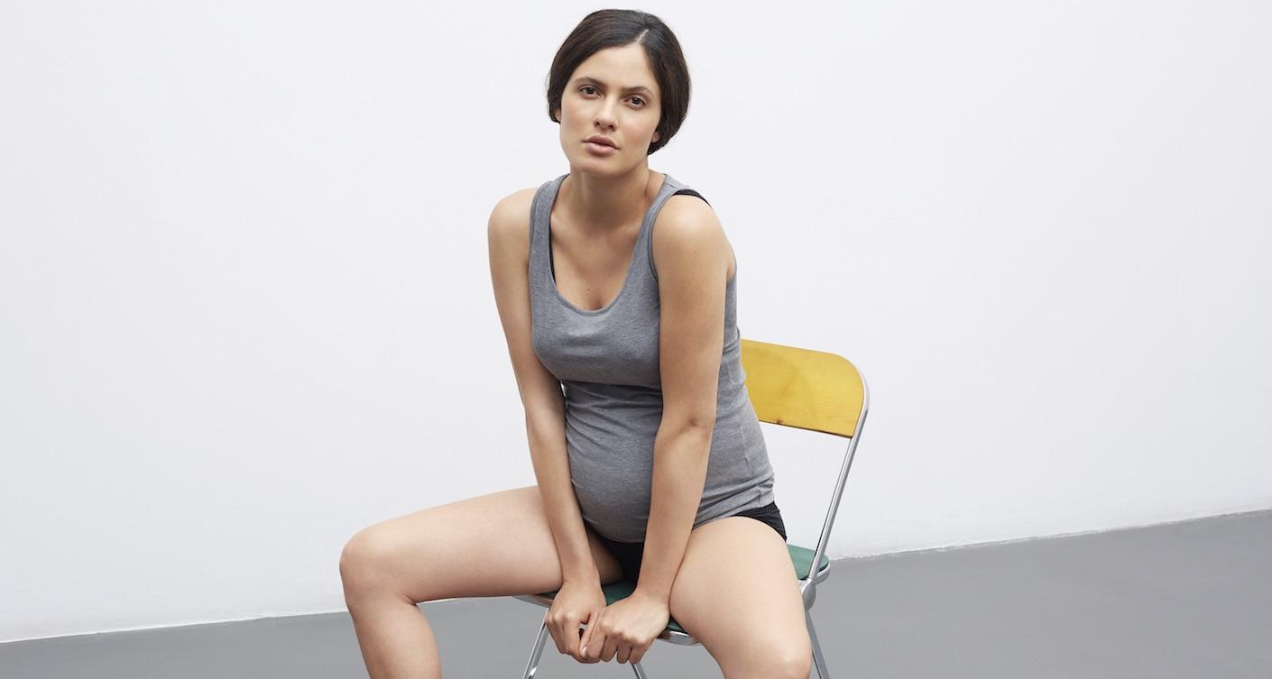 Schwangere Frau Stuhl