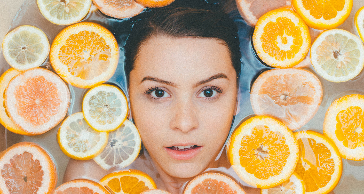 DIY Badezusatz Frau Orangen