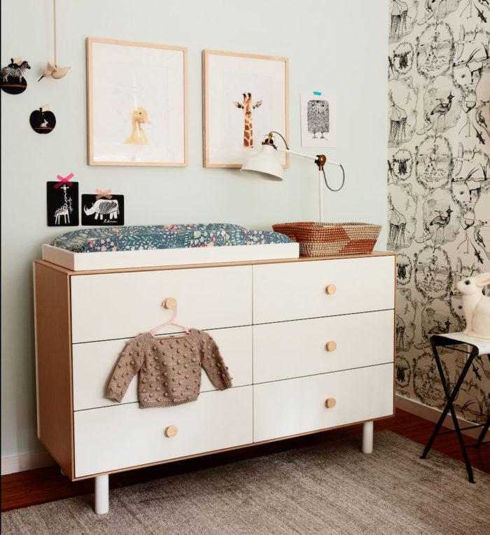 Wickelkommode im Babyzimmer