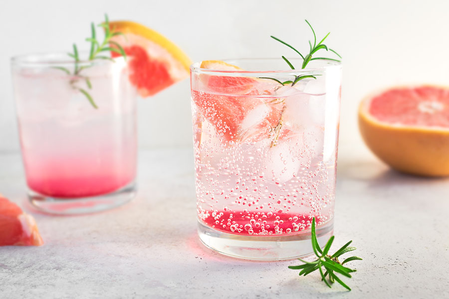 Grapefruit-Rosmarin Drink